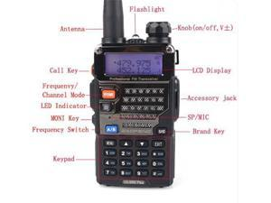 BAOFENG UV-5RE 136-174/400-480Mhz Dual Band VHF/UHF Radio - 128 Channels, CTCSS, CDCSS, VOX Function, FM, Keyboard Lock