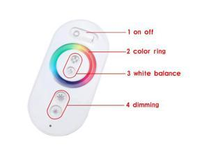 Wireless RF Touch Panel LED RGB Dimmer Remote Controller for RGB LED Strip