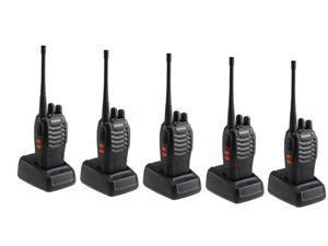 5 Pack BaoFeng BF-888S Long Range UHF 400-470 MHz CTCSS DCS Portable Handheld 2-way Ham Radio - Walkie Talkie