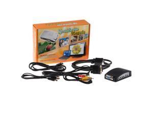 PC VGA TO TV Converter BOX S-Video Adaptor - Black