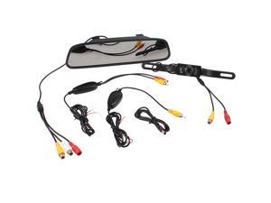 "4.3"" Inch TFT Car LCD Rear View Rearview DVD Mirror Monitor +Wireless Backup Camera for Car - Night Vision"