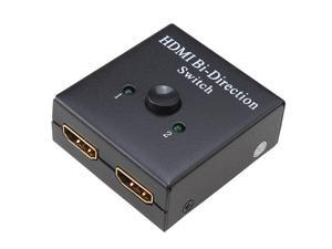 2-Port HDMI Bi-directional Switch Switcher Splitter 2x1/ 1x2 Support 3D HDMI 1.4