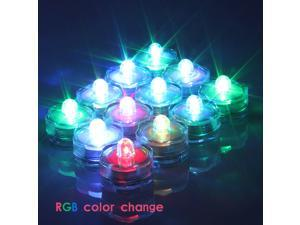 12X LED Submersible Wedding Centerpiece Waterproof Floral Vase Tea Light Candle - RGB Color Change