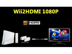 Wii To HDMI 720P/1080P Video Converter Upscaling Adapter 3.5mm Audio Output