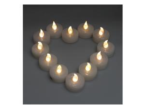 Lot 24 LED Warm White Flameless Wedding TeaLight Candle for Birthday Wedding & Anniversary Xmas/Chrismas Halloween Graduation New Year's Eve Thanksgiving Valentine's Day