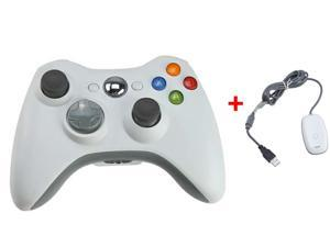 2.4GHz Wireless Remote Controller w/ Wireless PC (Windows) Receiver for Xbox 360 - White
