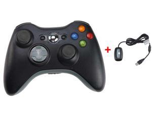 2.4GHz Wireless Remote Controller w/ Wireless PC (Windows) Receiver for Xbox 360 - Black