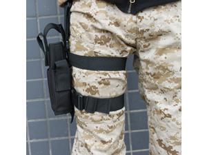 Tactical Army Black Pistol/ Gun Drop Leg Thigh Holster