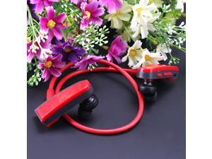 AGPtek Wireless Bluetooth V3.0 Workout Running Sports Stereo Headset for iPhone, Samsung Galaxy Note, Bluetooth Cell Phones, Tablets PC, Laptop - Red