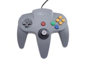 Two Gray Game Controllers for Super Nintendo 64