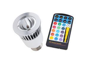 Wireless Remote Control 16 color LED Light Bulb E27 5W for Valentine's Day, Party