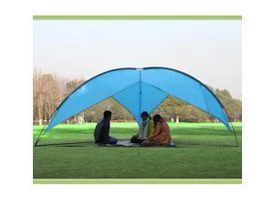 Sunshade Basecamp Shelter Tripod Beach shelter Fiberglass Poles Family Sun Shade triangular design