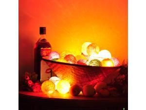 3M 20 Cotton Ball DIY Colorful String Light Party Fairy Festival Décor Light Decoration Christmas Xmas Valentine Wedding Light