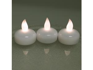 Lot 12 LED Floating Tea Waterproof Wedding Party Floral Decoration flameless Candle Flickering Flashing Warm White