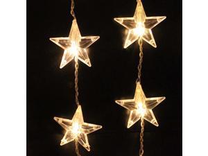 AGPTEK 1Mx1.5M 54LED star light christmas xmas Party String Light Wedding Curtain Light Home Decoration warm white