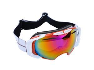 Ski goggles Anti-fog Colored Double Lens adult snowboard Orange + Electroplating red Lens + orange Frame