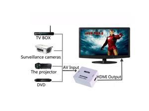 Mini Composite AV CVBS 3RCA to HDMI Video Converter Adapter 720p 1080p Upscaler