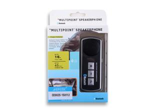 Bluetooth Handsfree Car Kit Multipoint Speaker for iPhone 4S, 5S, 5C&#59; Samsung Galaxy S4, S3, Note III, Note II&#59; Nexus&#59; Motorala&#59; Blackberry&#59; Sony&#59; HTC - Bluetooth-enabled Devices