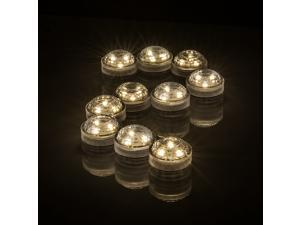 10PCS LED Submersible Waterproof Candle Shape Lights for Your Bath Funny and Novelty Bath Spa Lights