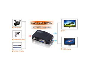 CCTV Camera DVD DVR BNC S-Video VGA to PC Monitor VGA Converter Switch - Adapter