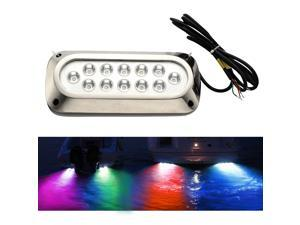 Waterproof IP68 Rating LED Marine Underwater Light Boat/Yacht light 36W Blue, Stainless Steel,