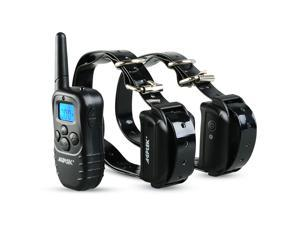 Rechargeable Collar Waterproof LCD 100LV Level 2 Shock Vibra Remote Pet Dog Training Collar
