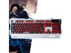 SADES Blademail PC Gaming Keyboard Red Blue Purple LED 3 Switchable Backlight Colors 19 non-conflict keys Metal Material (White) With Sades Retail Gift Box