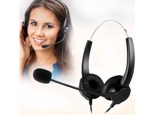 Head Handsfree Call Center Noise Cancelling Corded with USB Plug Headset Headphone with Mic Mircrophone for Phone Desk Telephonefor Phone Telephone Counseling Services Insurance Hospital