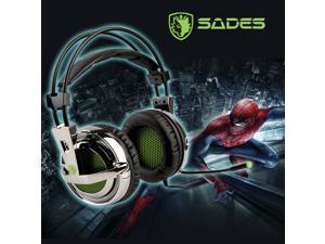 SADES SA-928 Stereo Lightweight Gaming Headphone Headsetswith Mic for PC/MAC With Sades Retail Gift Box
