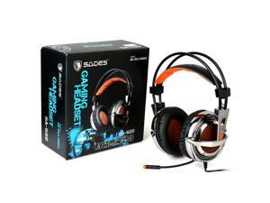 Sades Sa928 Universal Professional PC PS3 PS4 Xbox360 Triple Gaming Headset Stereo Gaming Headphones Over Ear Headband with High Sensitivity Microphone With Sades Retail Gift Box