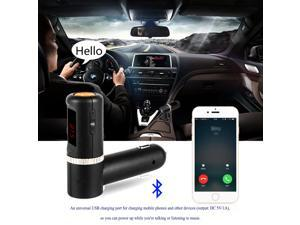 Car Auto Bluetooth Wireless Fm Radio Transmitter with 5V/4.2A Dual USB Charging and Music Control and Hands-free Calling Black/LCD Display