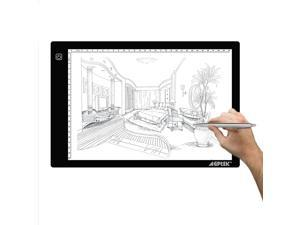 LED Artcraft Tracing Light Pad A4 size Light Box Ultra-thin USB Power Cable Dimmable Brightness Tatoo Pad Aniamtion, Designing, Stencilling, Sketching