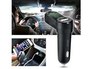 Bluetooth Handsfree Car Kit MP3 Player FM Transmitter Modulator with Car Charger for Apple iPhone 6 5 iPod Touch Samsung Galaxy S6 S5 S4 Note 3 4 Black