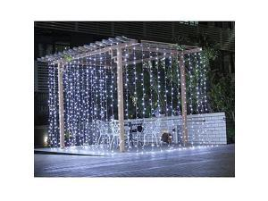 Image® Curtain Light 224led 9.8ft*6.6ft Christmas Festival Curtain String Fairy Wedding Led Lights for Garden,Wedding, Party, Window, Home Decorative - (PURE White)