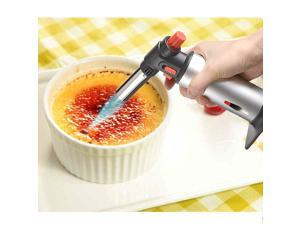 Multi-Usage Culinary Torch Lighter  - Micro Butane Chef's Creme Brulee Blow Torch Perfect For Kitchen, Metal & Smoking Use