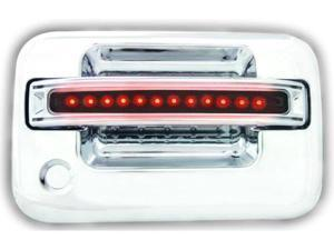 Ford 2004-2008 F150 / F250 LD LED Door Handle, Front, Chrome (2ps/set) Red LED/Smoke Lens Both Sides Key Hole IPCW 1 pair