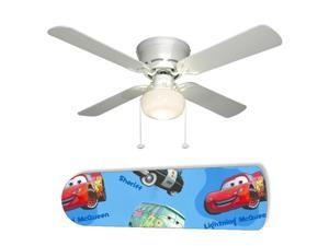 "Mater and Lightening McQueen Cars 42"" Ceiling Fan with Lamp"