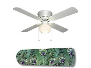 "Peacock Paradise 42"" Ceiling Fan with Lamp"