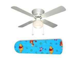 "Tigger and Winnie the Pooh Toss 42"" Ceiling Fan with Lamp"