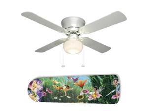 "Tinkerbell Fairies Faeries Forest 42"" Ceiling Fan with Lamp"
