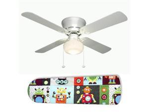"Robot 42"" Ceiling Fan with Lamp"