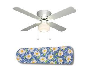 "Daisy Gingham 42"" Ceiling Fan with Lamp"