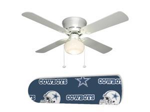 "Dallas Cowboys Helmet 42"" Ceiling Fan with Lamp"