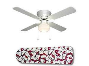 "Hello Kitty Jam 42"" Ceiling Fan with Lamp"