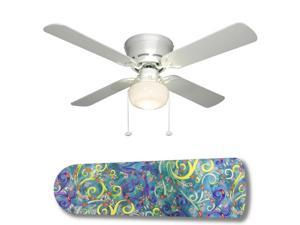 "Ariel Underwater Fantasy 42"" Ceiling Fan with Lamp"