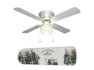 "Old Fashion John Deere 42"" Ceiling Fan with Lamp"