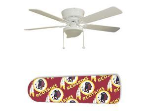 """Washington Redskins 52"""" Ceiling Fan with Lamp"""