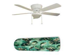 "Fish Fishing Dad's Den 52"" Ceiling Fan with Lamp"