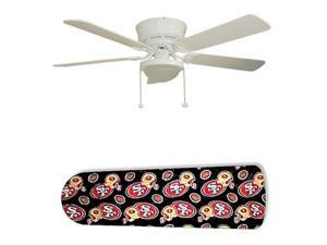 """San Francisco 49 ers Forty Niners 52"""" Ceiling Fan with Lamp"""