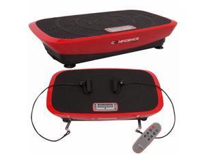 Confidence VibeSlim Vibration Fitness Trainer Plate w/ Straps + Remote Control